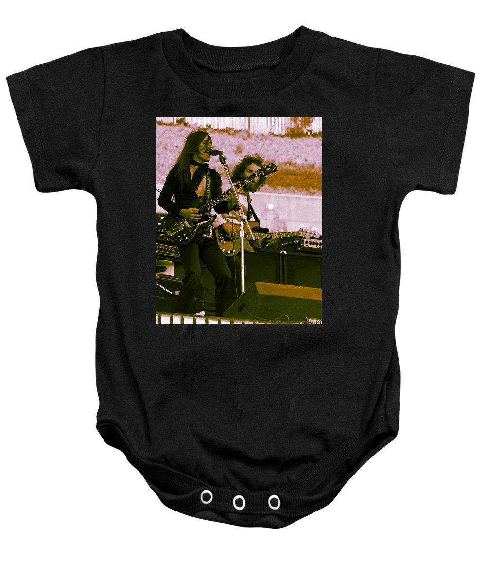 Frank Marino Baby Onesie featuring the photograph Mrdog #5 Crop 2 With Enhanced Colors by Ben Upham