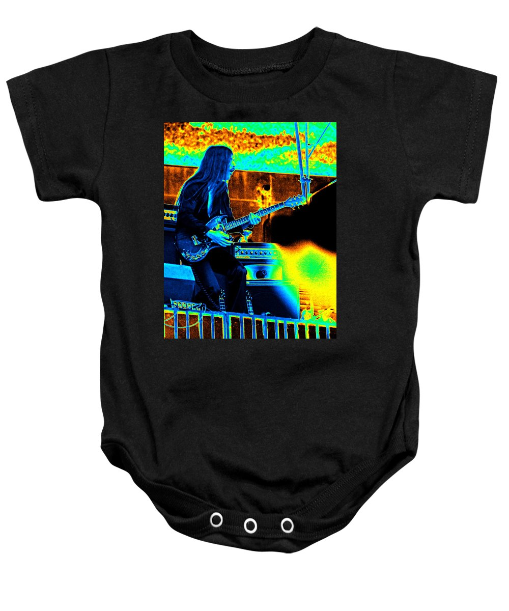 Frank Marino Baby Onesie featuring the photograph Mrdog #6 In Cosmicolors by Ben Upham