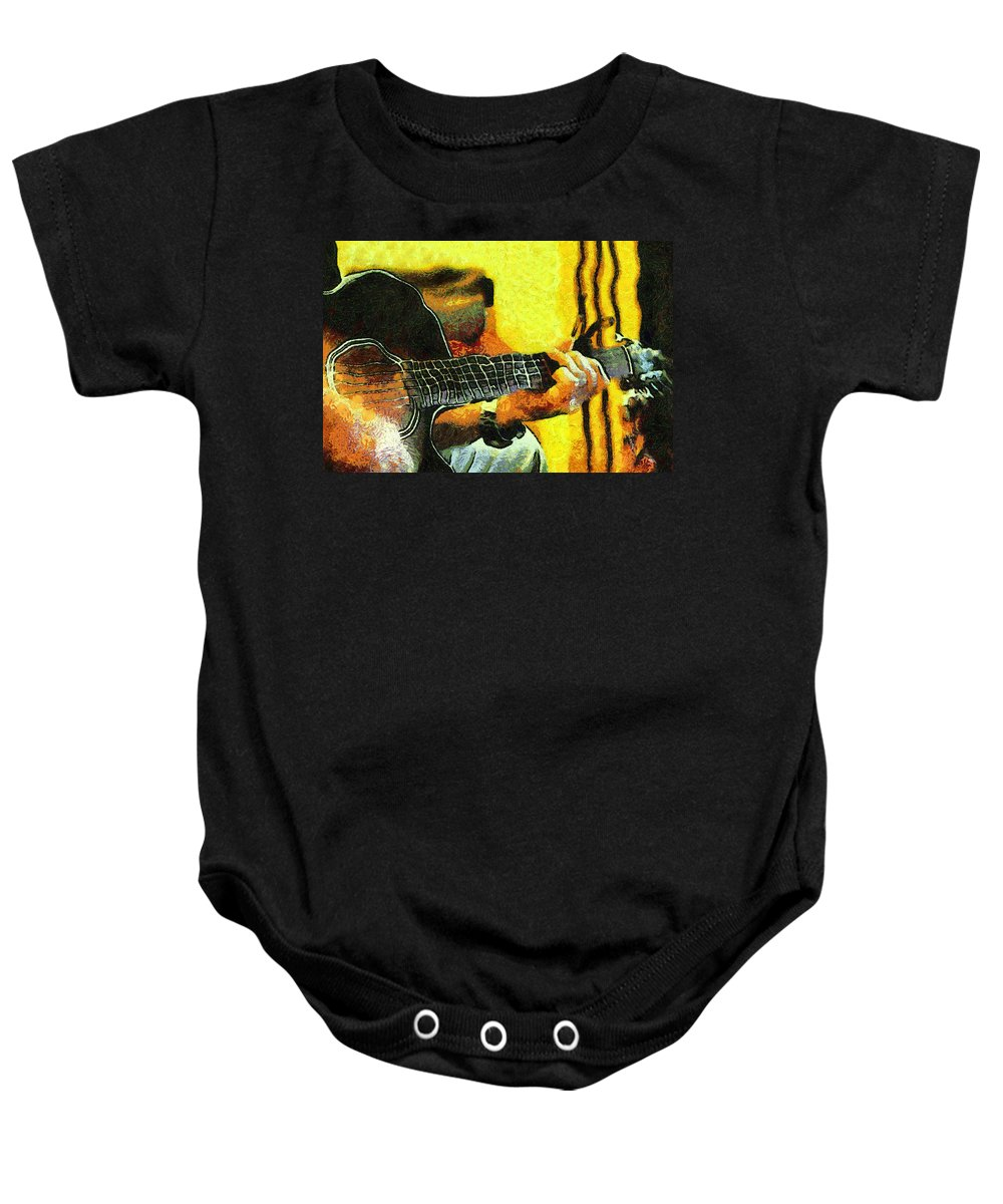Music Baby Onesie featuring the photograph Music From The Heart I by Jenny Rainbow