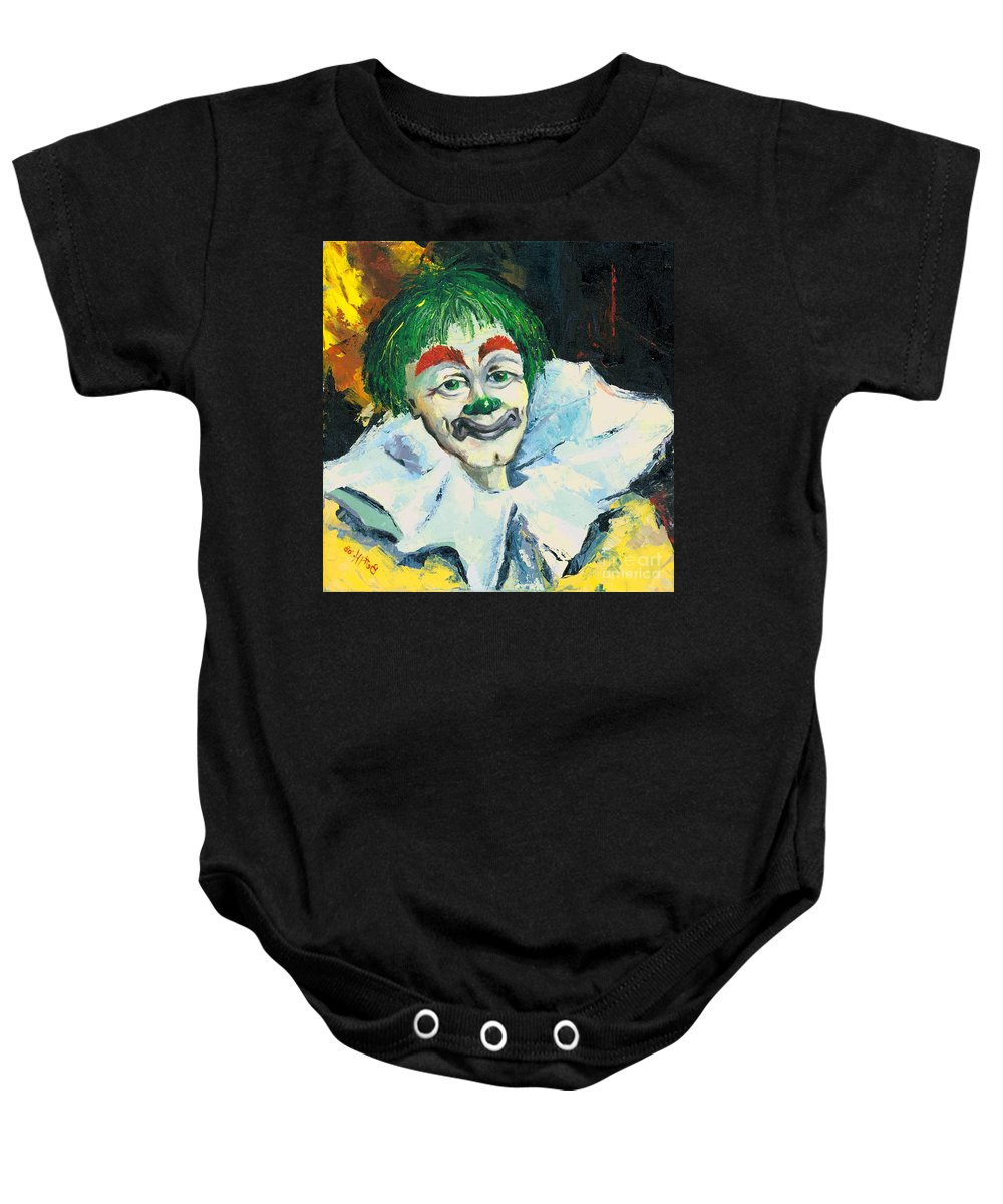 Canvas Prints Baby Onesie featuring the painting My Friend by Elisabeta Hermann