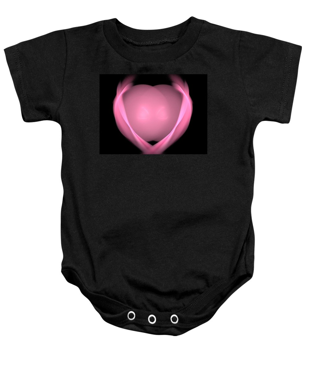 Fractal Baby Onesie featuring the painting My Heart Belongs To You by Bruce Nutting