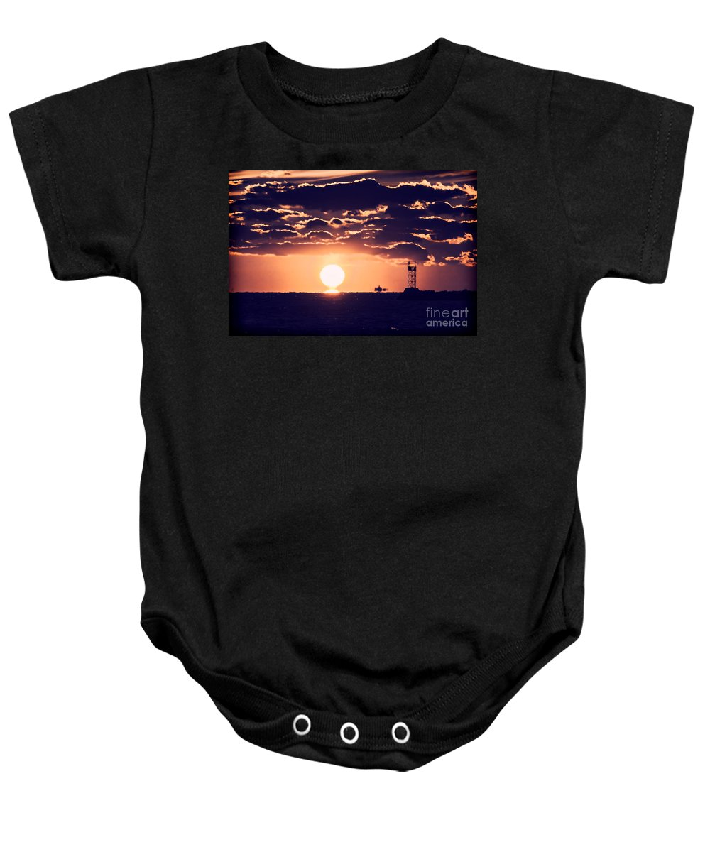 Borough Baby Onesie featuring the photograph My Spot by Joe Geraci