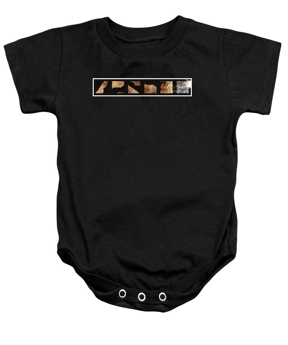 Fracture Baby Onesie featuring the photograph Mystic Fractures Ill by Paul Davenport