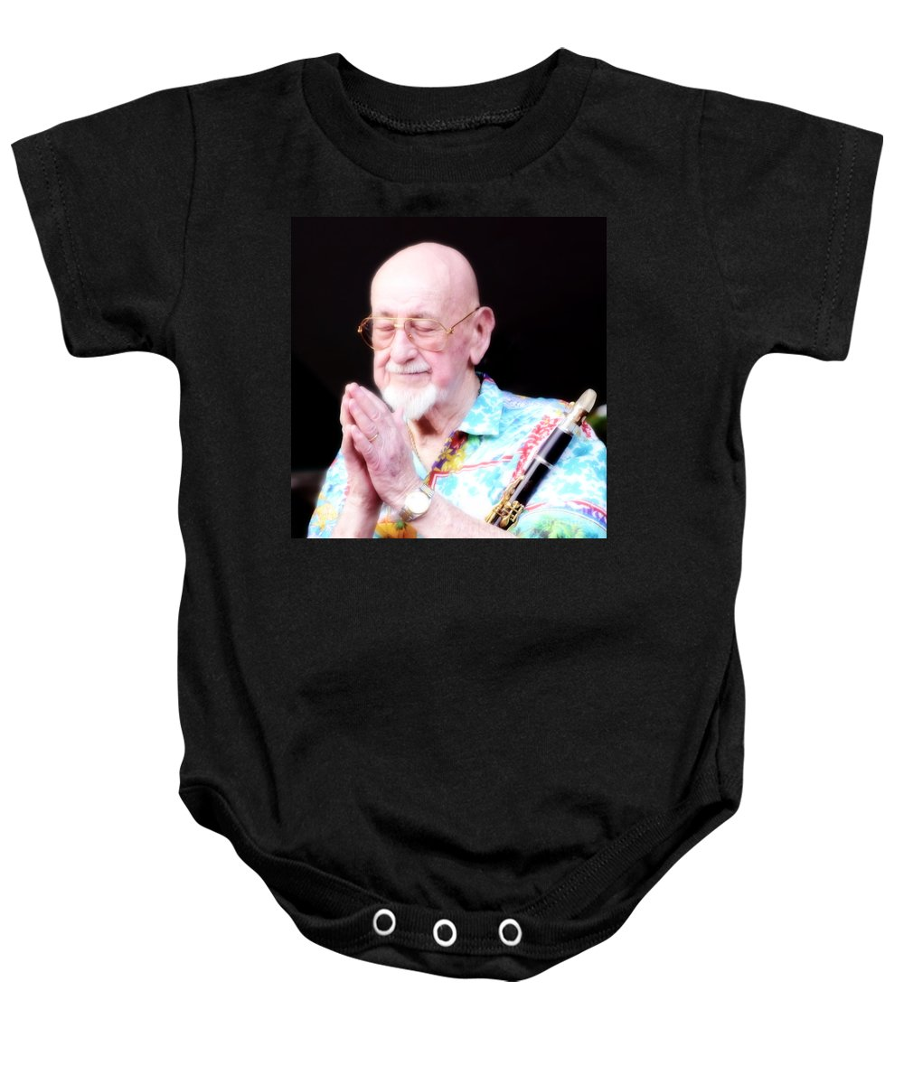 Namaste Baby Onesie featuring the photograph Namaste From Pete Fountain by Bob Hislop