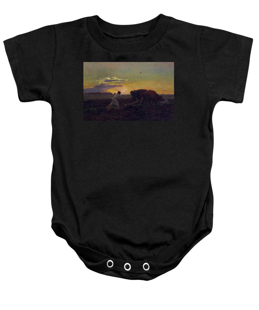 Jozef Chelmonski Baby Onesie featuring the painting Orka by Celestial Images