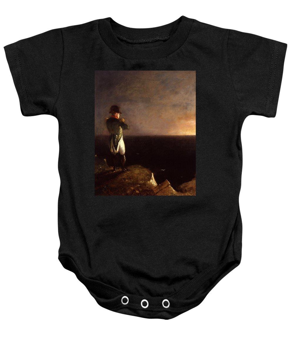 Benjamin Robert Haydon Baby Onesie featuring the painting Napoleon Bonaparte by Benjamin Robert Haydon