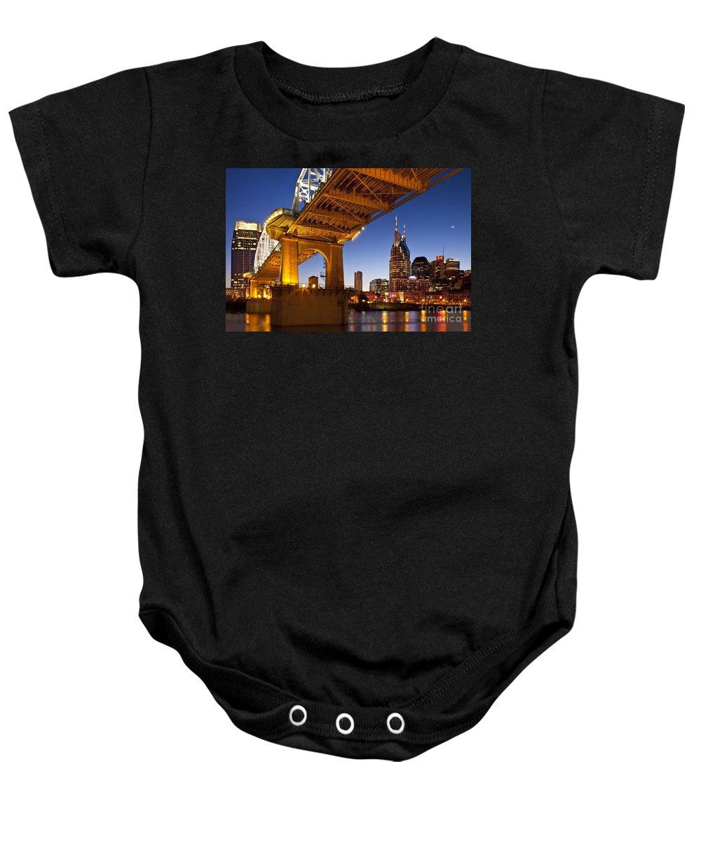 Nashville Baby Onesie featuring the photograph Nashville Tennessee by Brian Jannsen