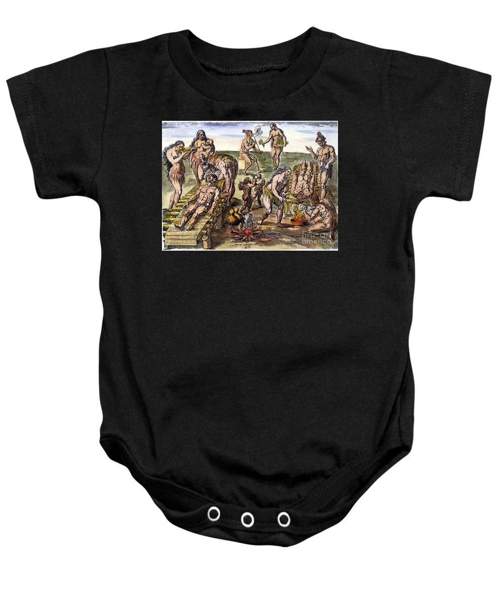 1591 Baby Onesie featuring the photograph Native Americans: Disease by Granger
