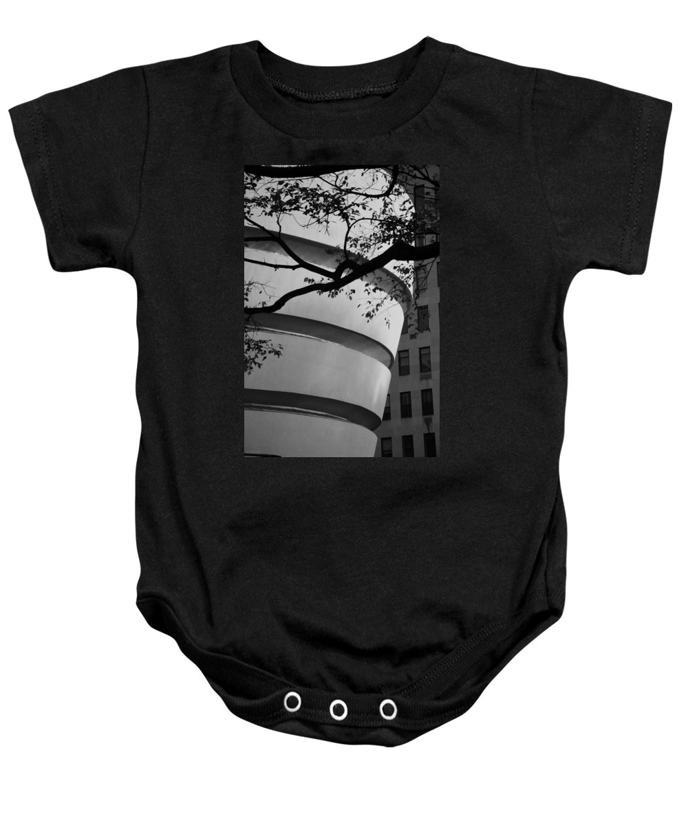 Scenic Baby Onesie featuring the photograph Nature And Architecture In Black And White by Rob Hans