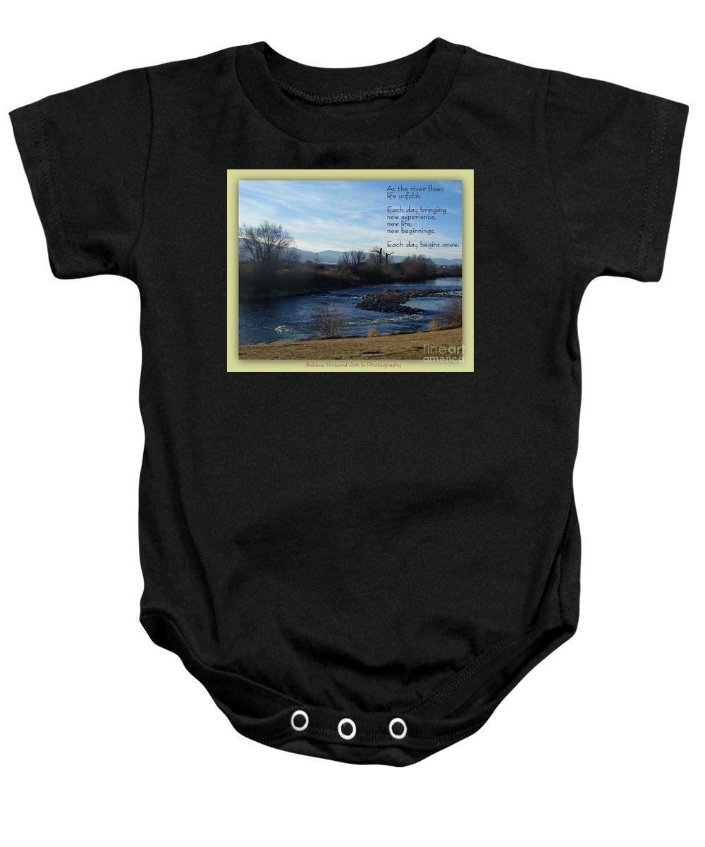 Tahoe Baby Onesie featuring the photograph New Day by Bobbee Rickard