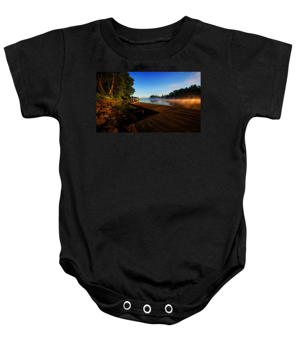 Sunrise Baby Onesie featuring the photograph New Day by Everet Regal