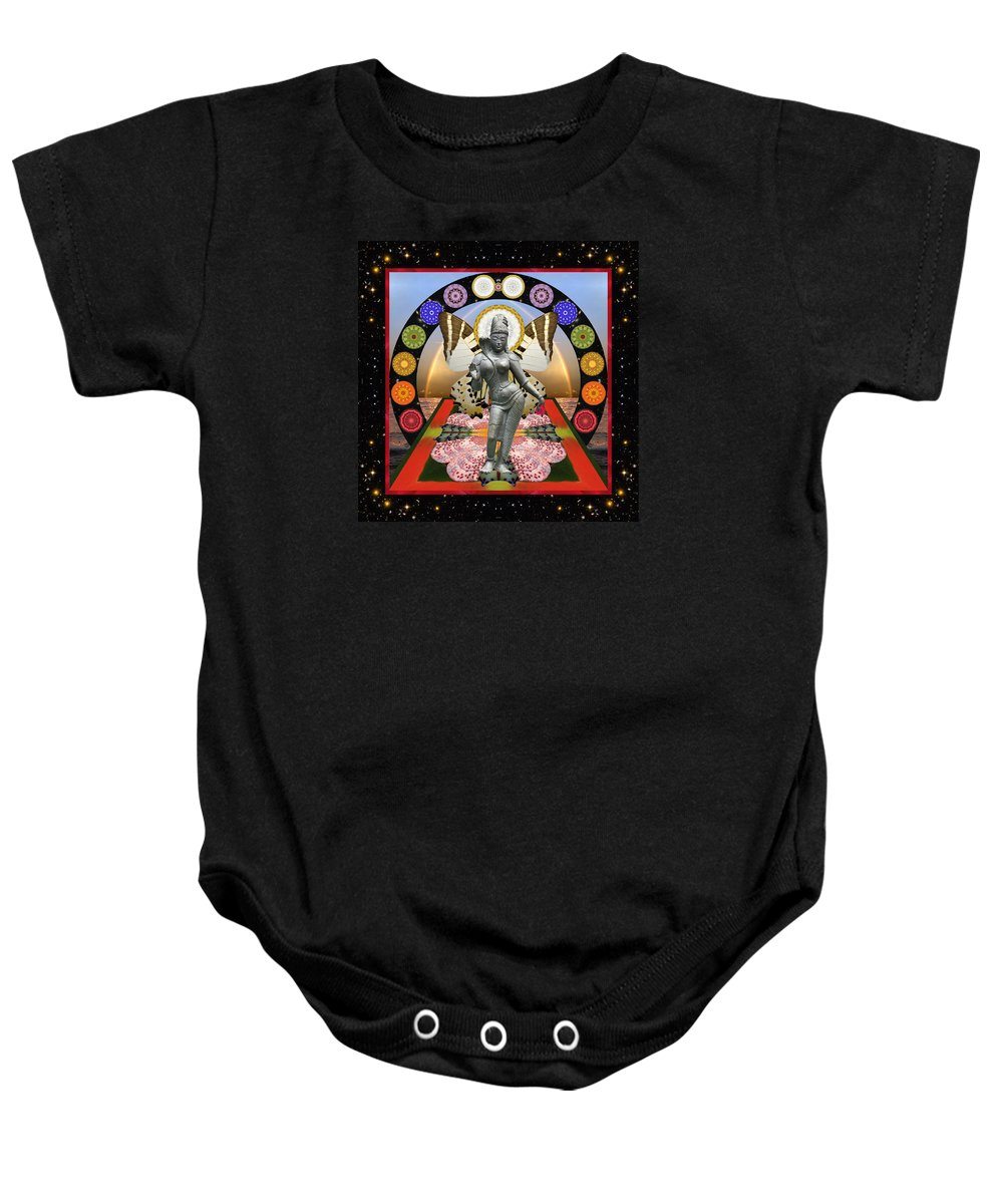 Goddess Baby Onesie featuring the photograph New Two by Bell And Todd