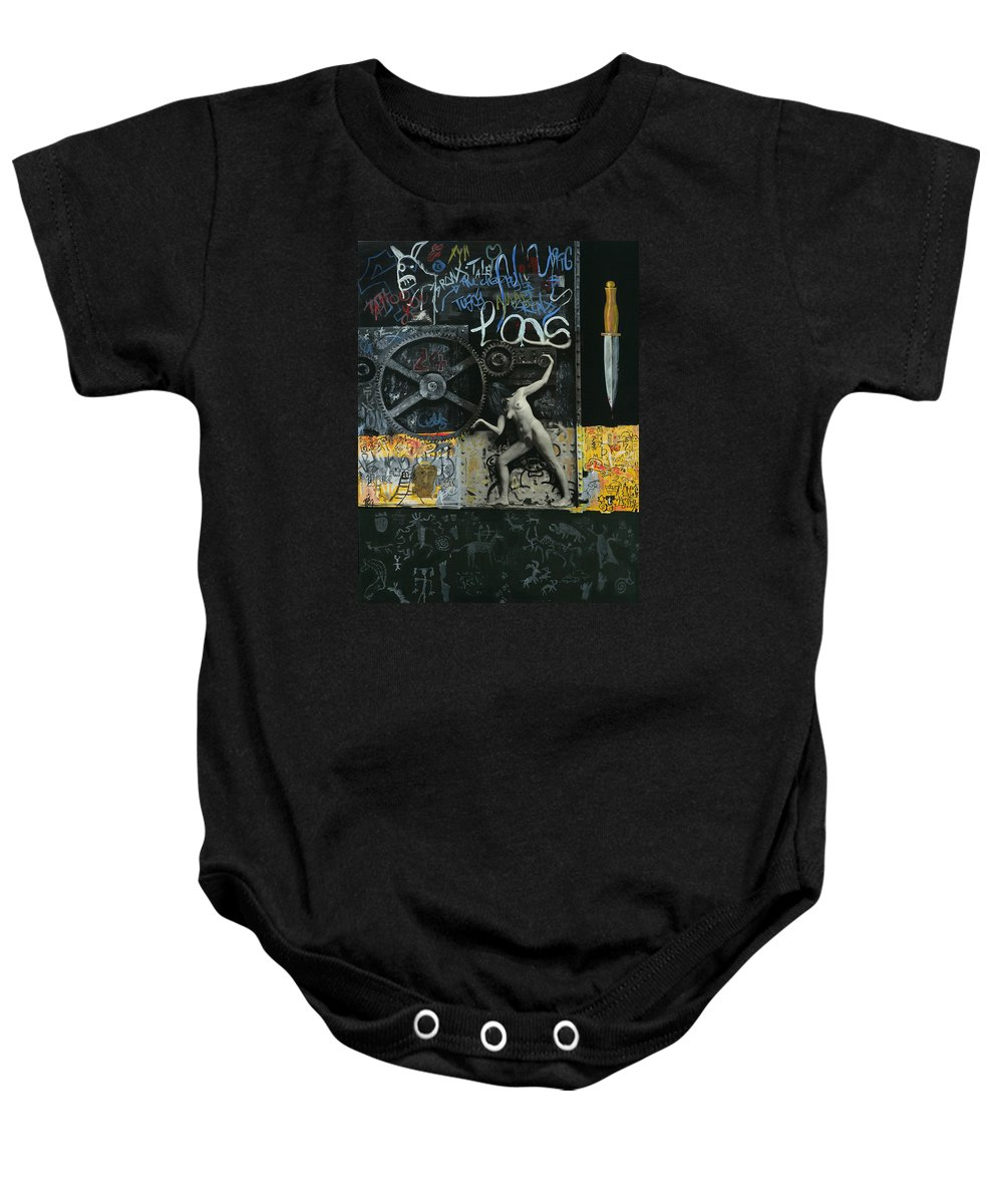 City Baby Onesie featuring the painting New York City by Yelena Tylkina