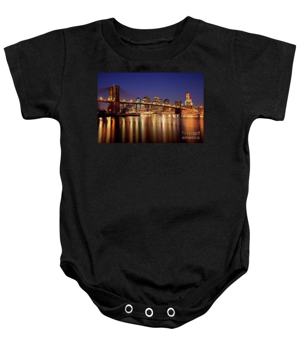 Brooklyn Baby Onesie featuring the photograph New York Skyline by Brian Jannsen