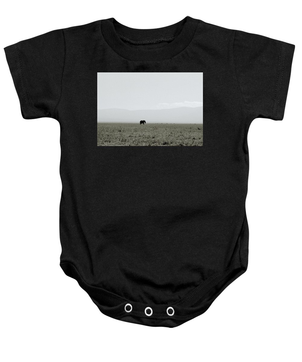 Elephant Baby Onesie featuring the photograph Ngorongoro Crater by Shaun Higson