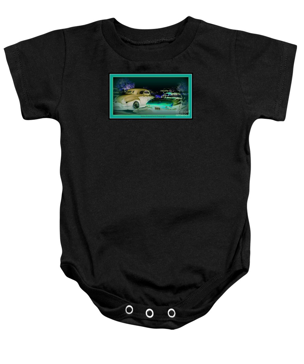 Prints On Canvas Baby Onesie featuring the photograph Night Lights With The Classics by Bobbee Rickard