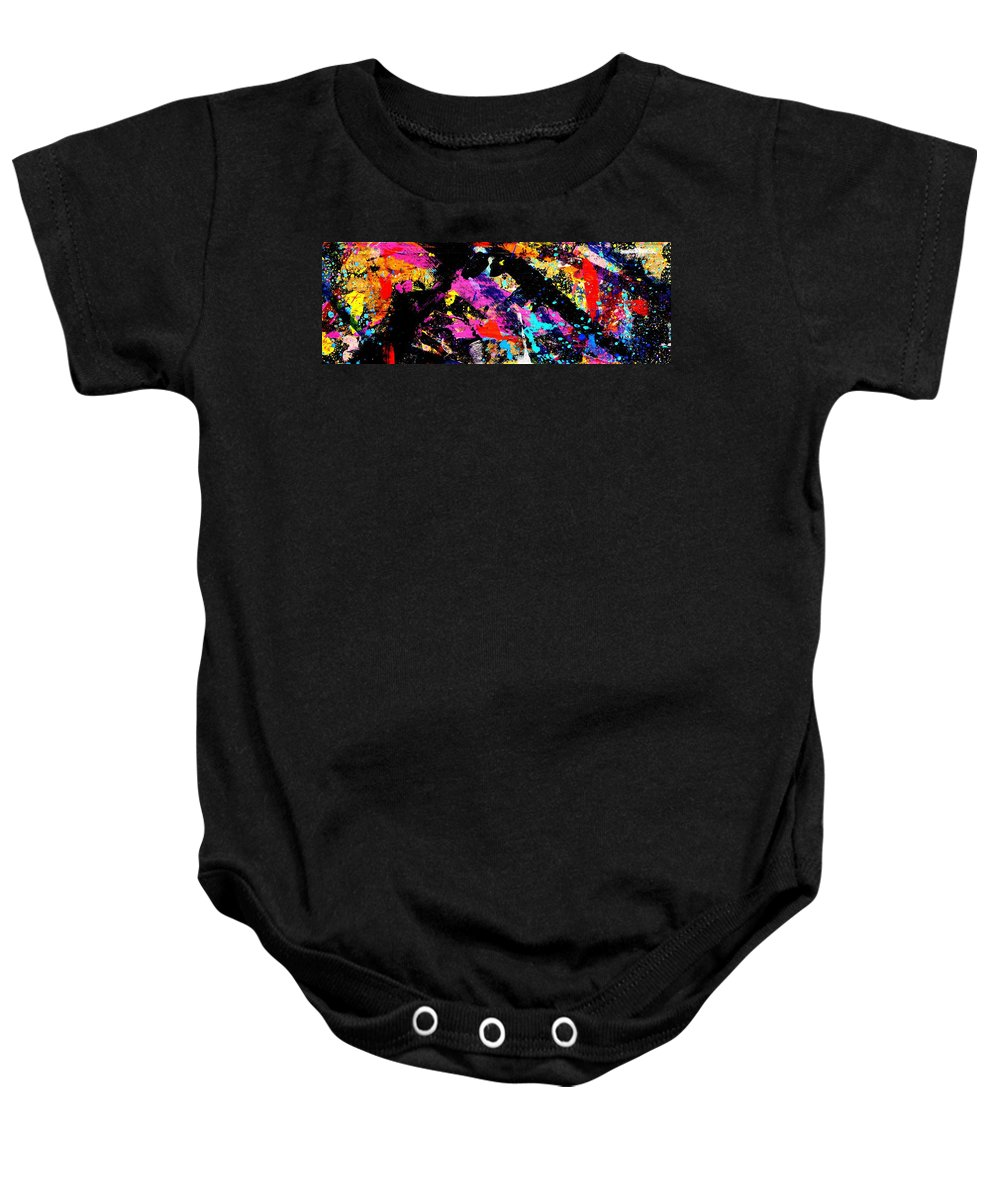 Abstract Baby Onesie featuring the painting Nighttown Xii by John Nolan