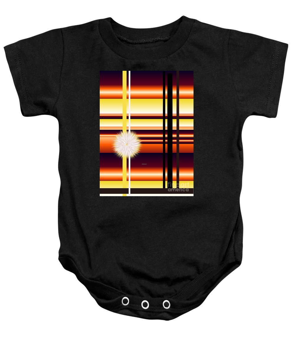 Baby Onesie featuring the digital art No. 140 by John Grieder