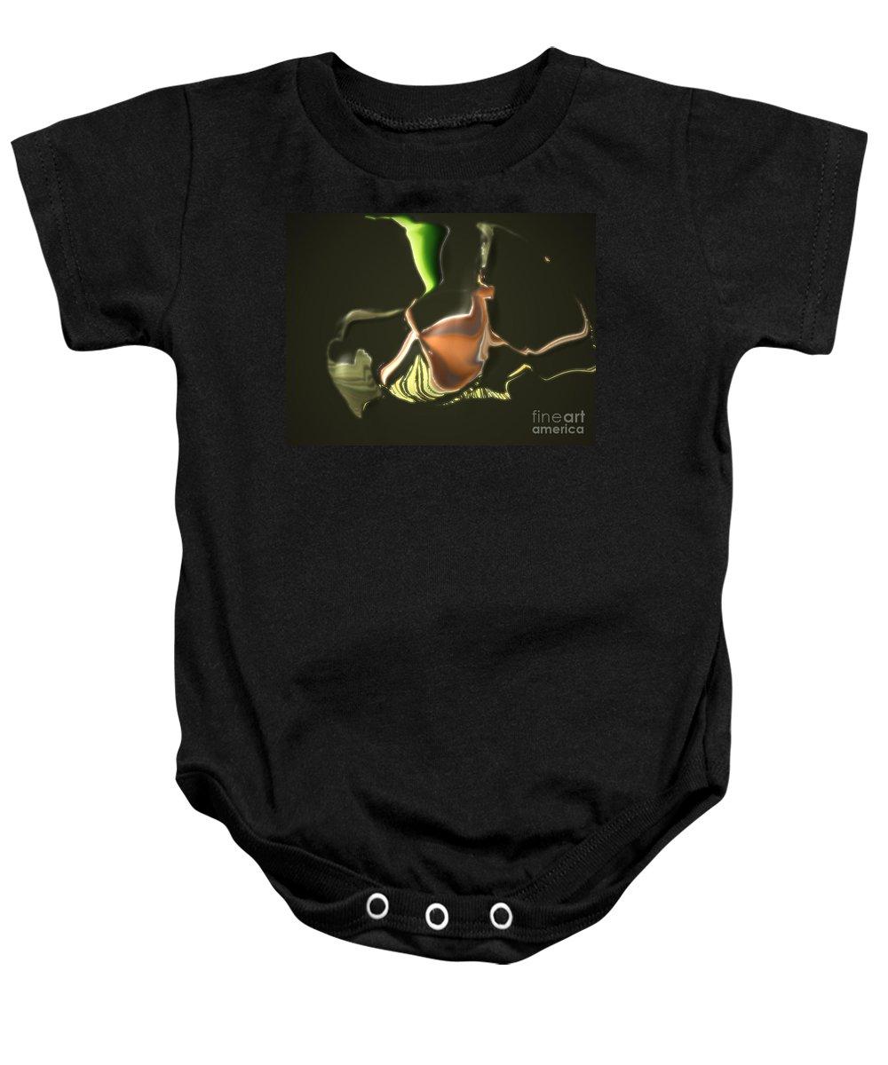 Baby Onesie featuring the digital art No. 333 by John Grieder