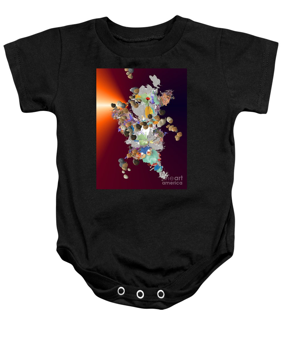 Baby Onesie featuring the digital art No. 440 by John Grieder