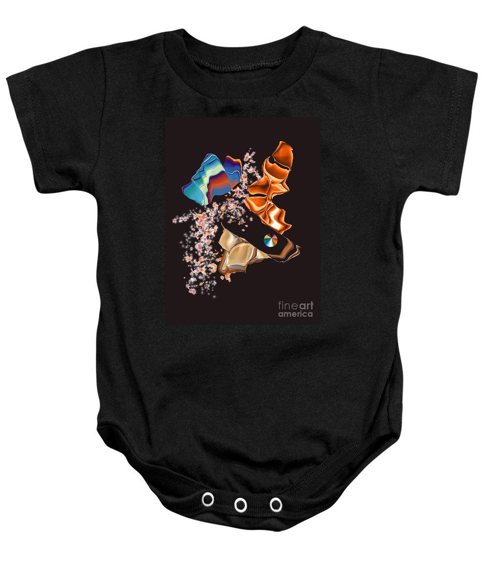 Baby Onesie featuring the digital art No. 459 by John Grieder