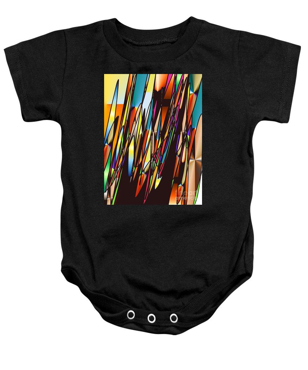 Baby Onesie featuring the digital art No. 551 by John Grieder