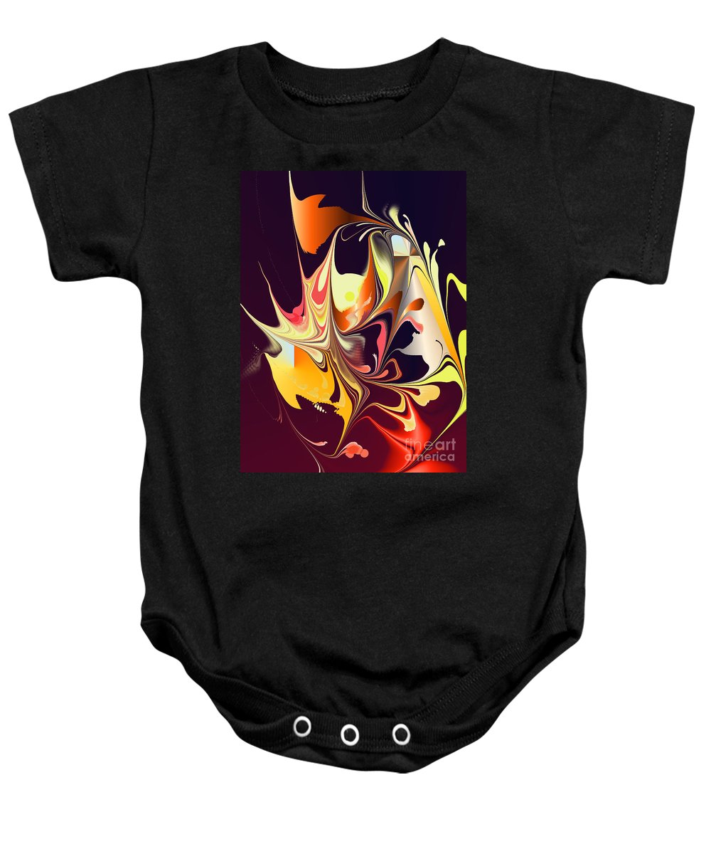 Baby Onesie featuring the digital art No. 553 by John Grieder