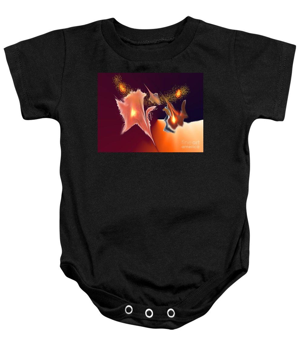 Baby Onesie featuring the digital art No. 571 by John Grieder
