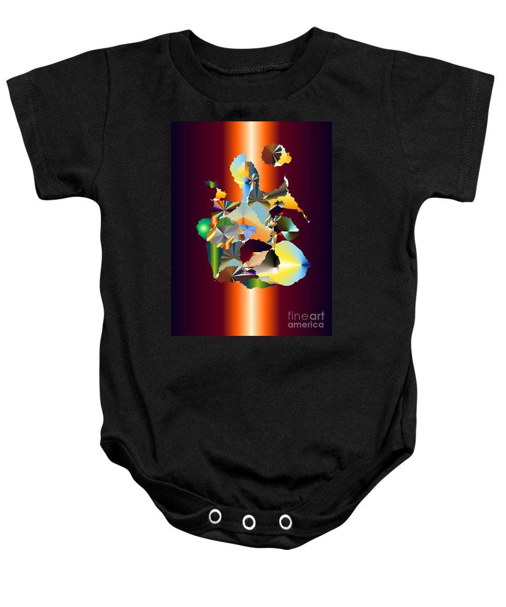 Baby Onesie featuring the digital art No. 573 by John Grieder