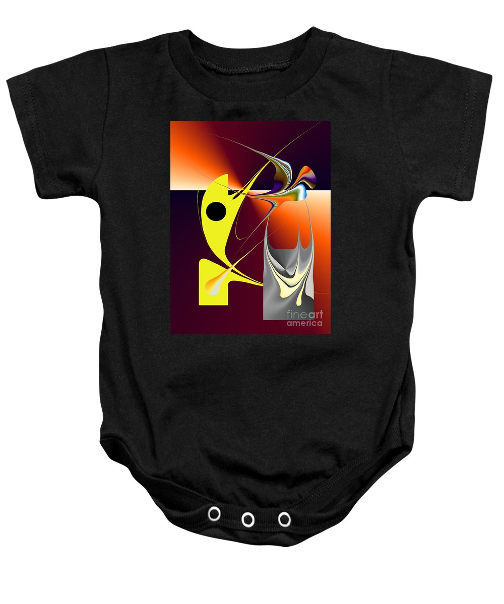 Baby Onesie featuring the digital art No. 726 by John Grieder