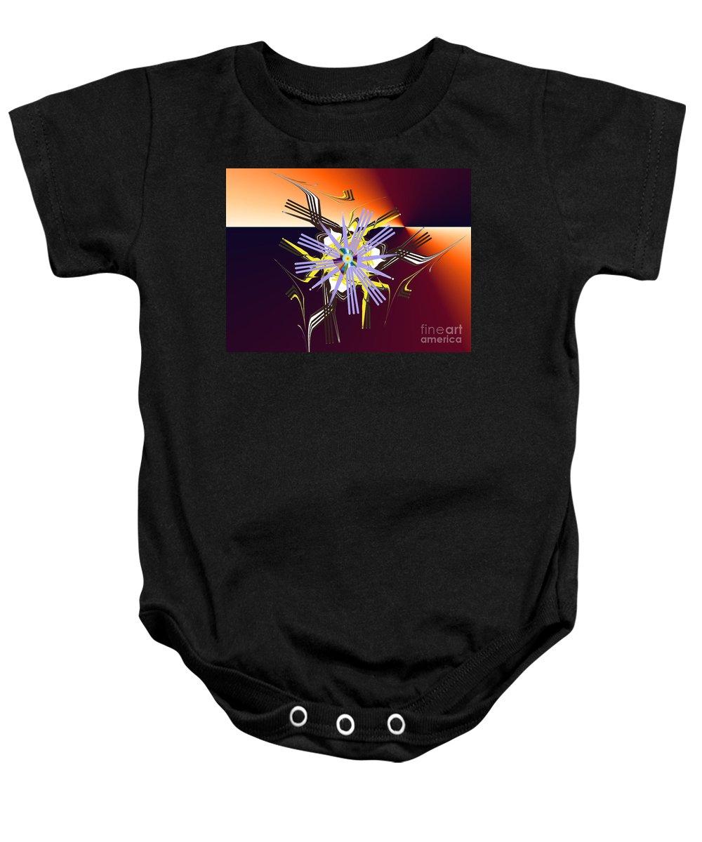 Baby Onesie featuring the digital art No. 728 by John Grieder