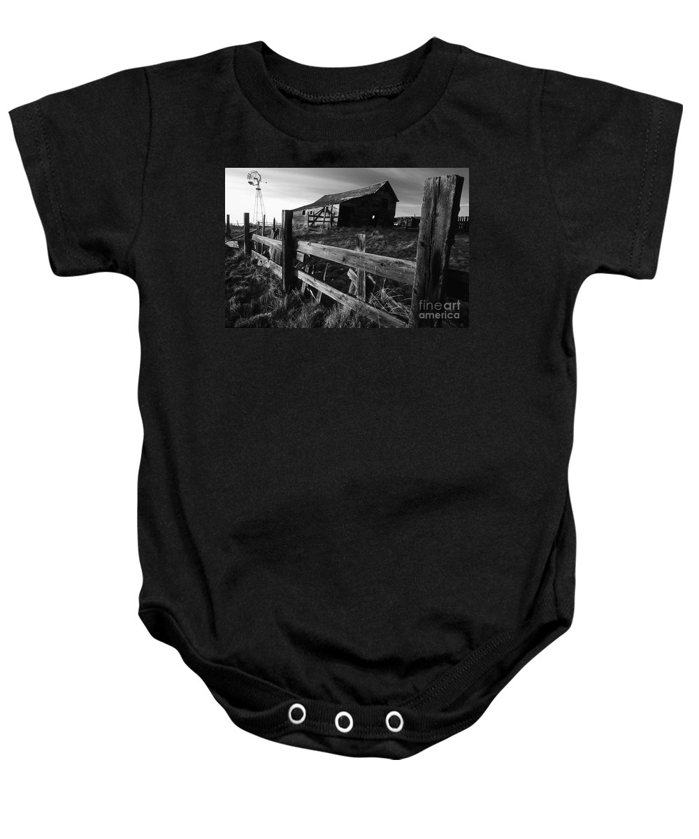 Deserted Baby Onesie featuring the photograph Not Ok Corral by Bob Christopher