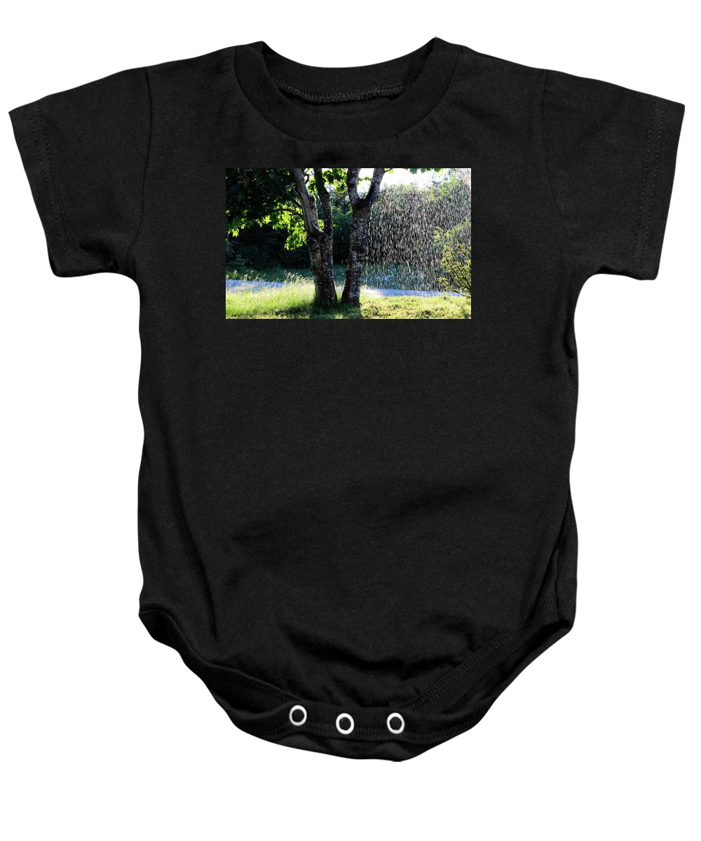 Not Raining Baby Onesie featuring the photograph Not Raining Over Here by Barbara Griffin