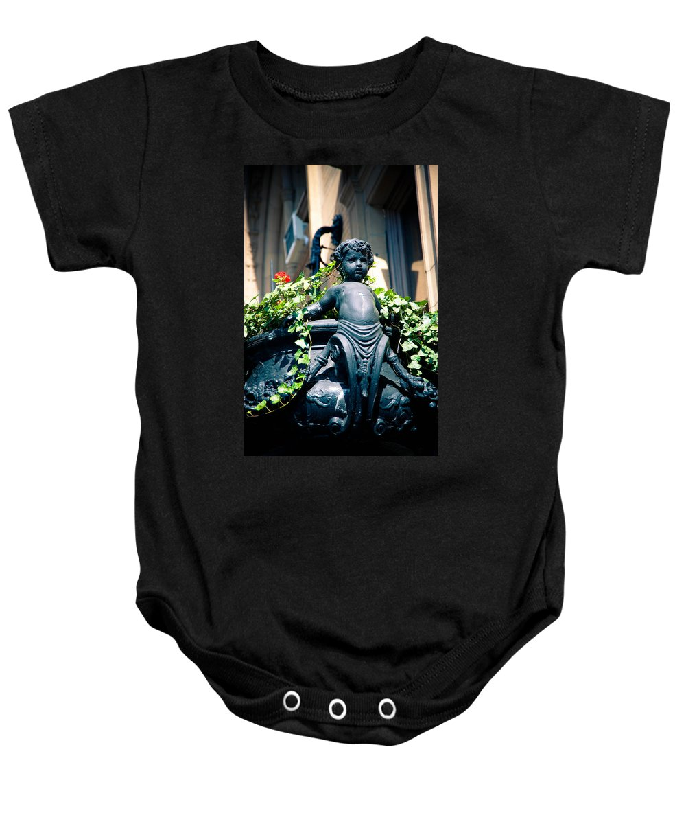 Art Baby Onesie featuring the photograph Nyc Angel by Zina Zinchik