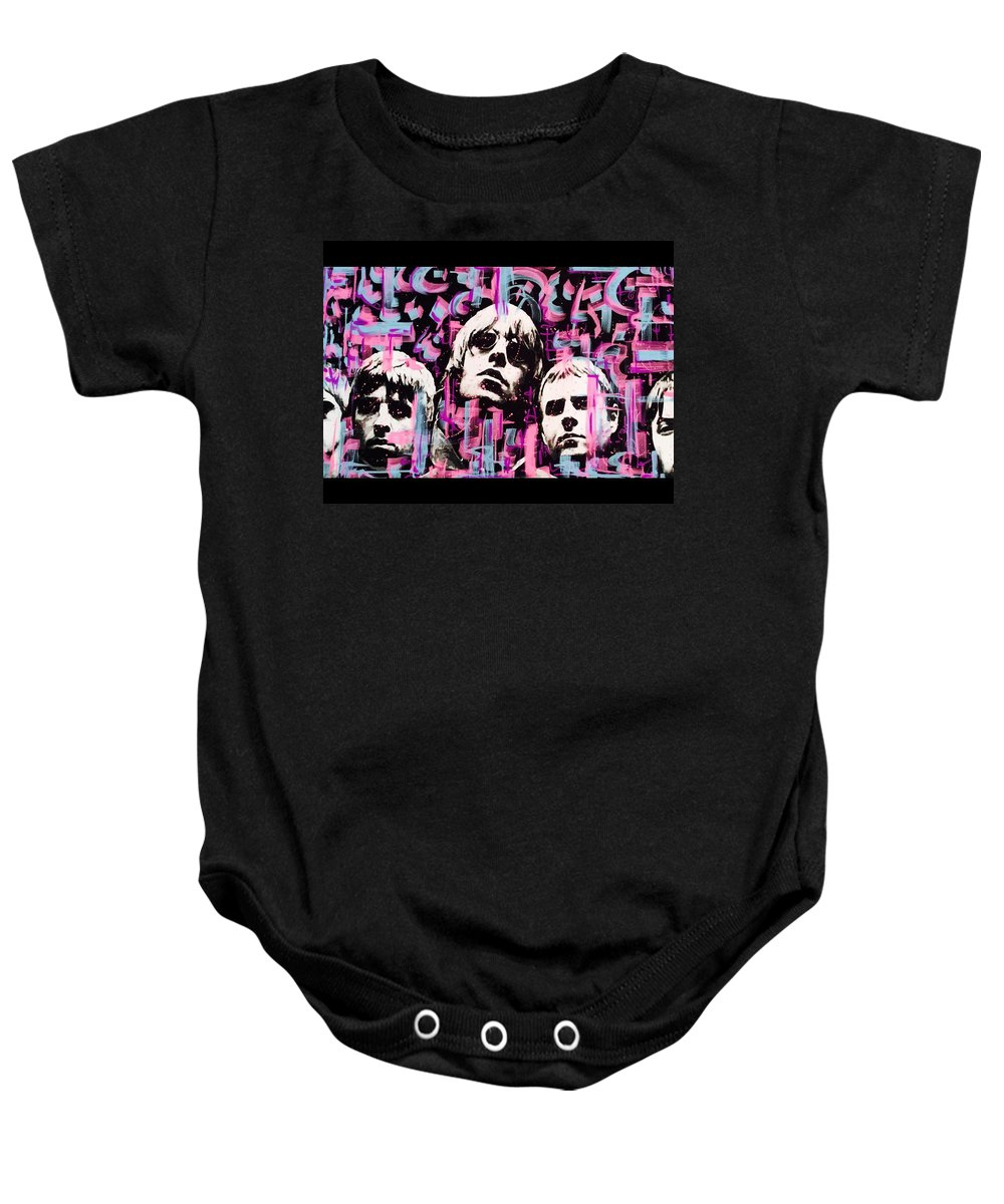 Oasis Baby Onesie featuring the mixed media Oasis by Lowkey Luciano