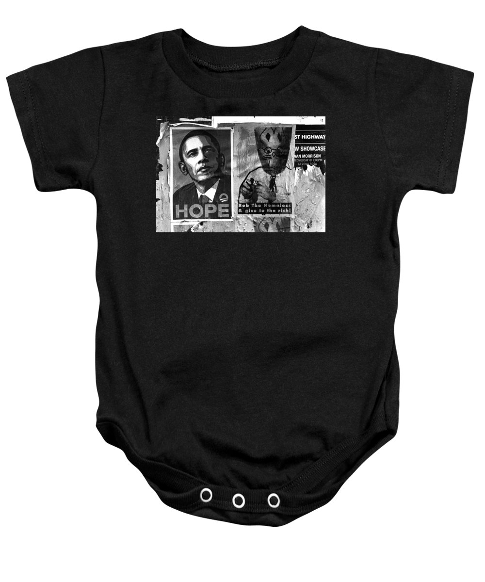 Posters Baby Onesie featuring the photograph Obama Election Poster by Jim Smith
