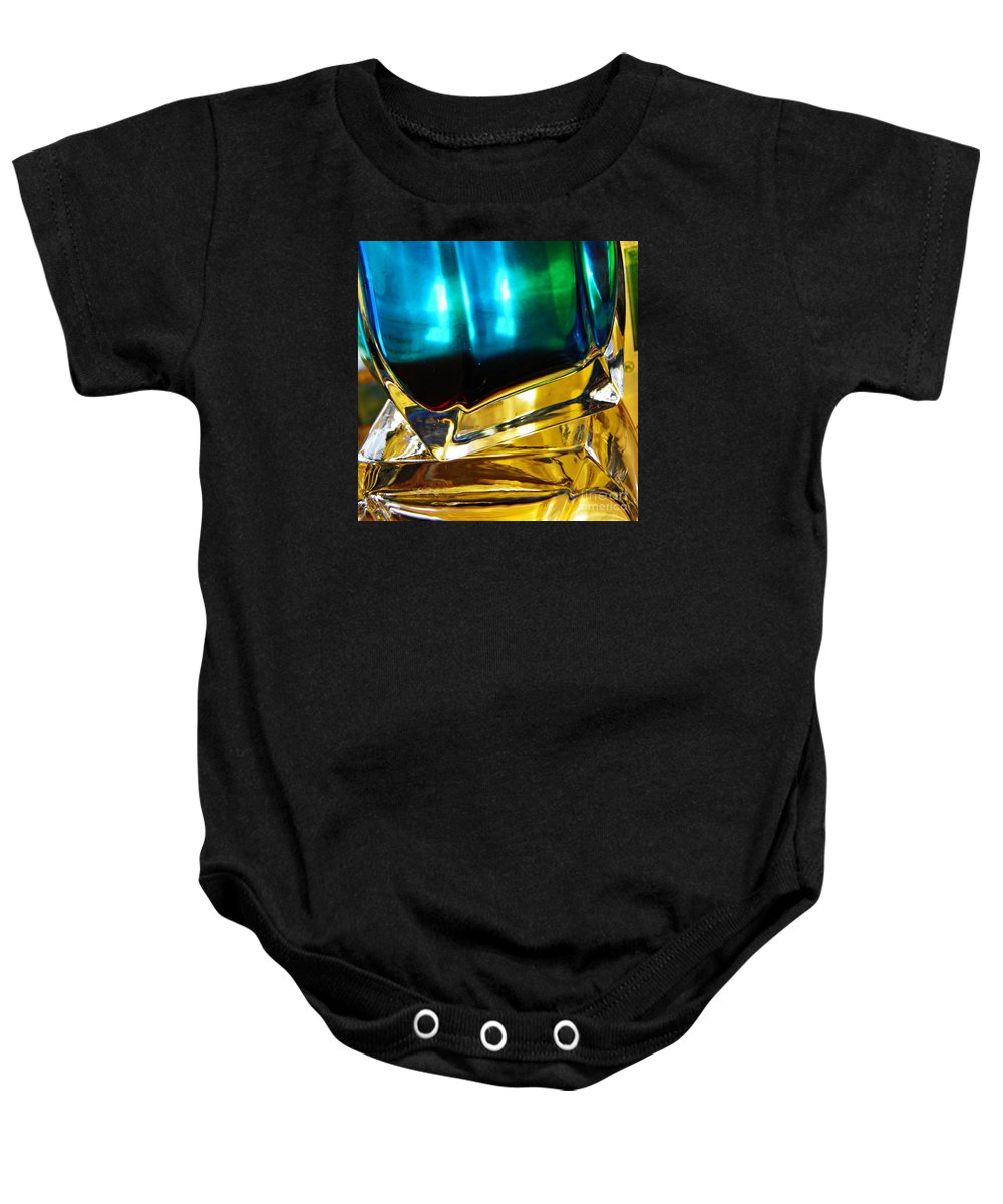Abstract Baby Onesie featuring the photograph Oil And Water 3 by Sarah Loft