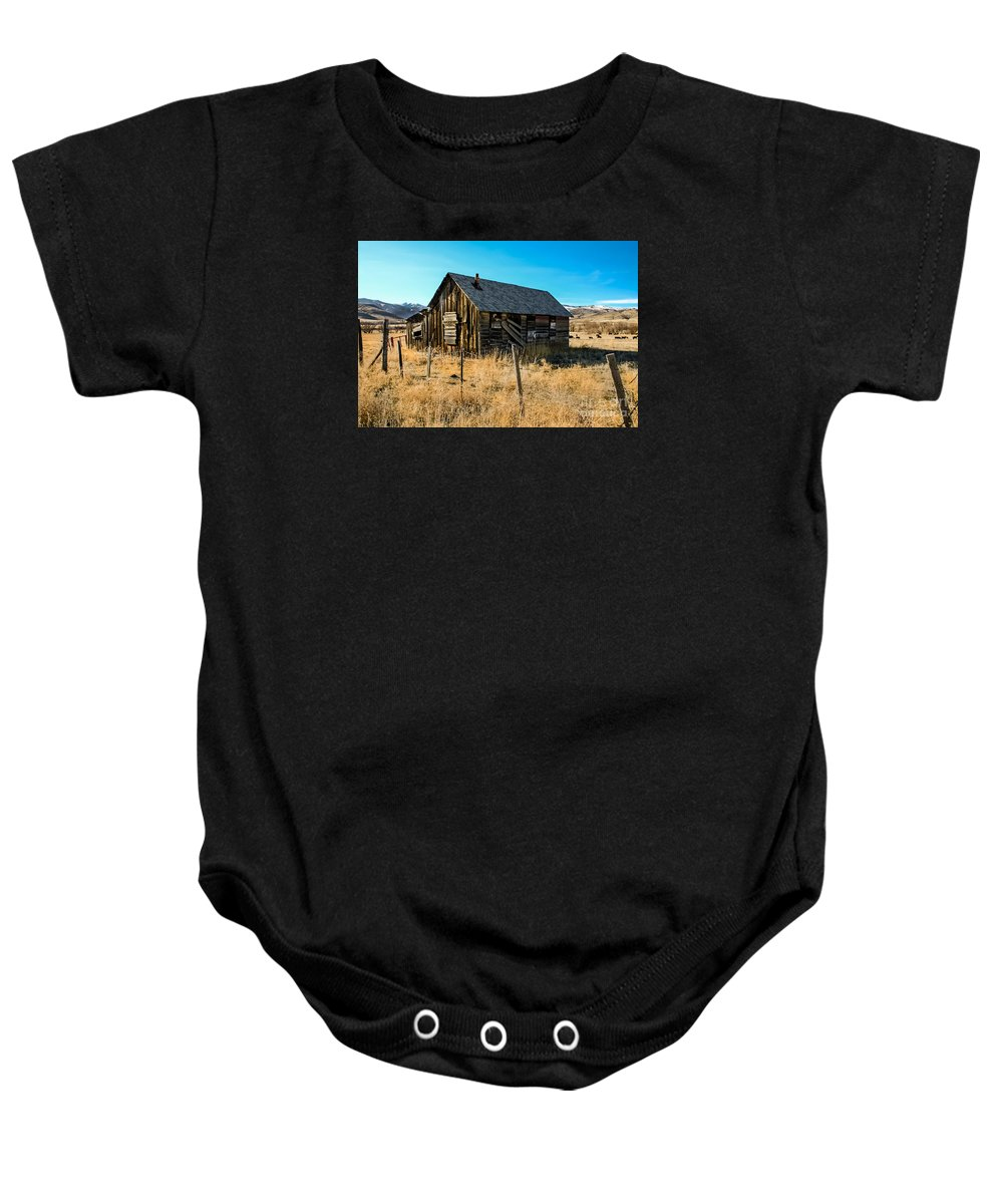 Barn Baby Onesie featuring the photograph Old And Forgotten by Robert Bales