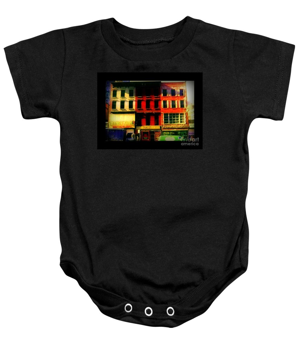 Old Buildings Of New York City Baby Onesie featuring the photograph Old Buildings 6th Avenue - Vintage Nyc Architecture by Miriam Danar