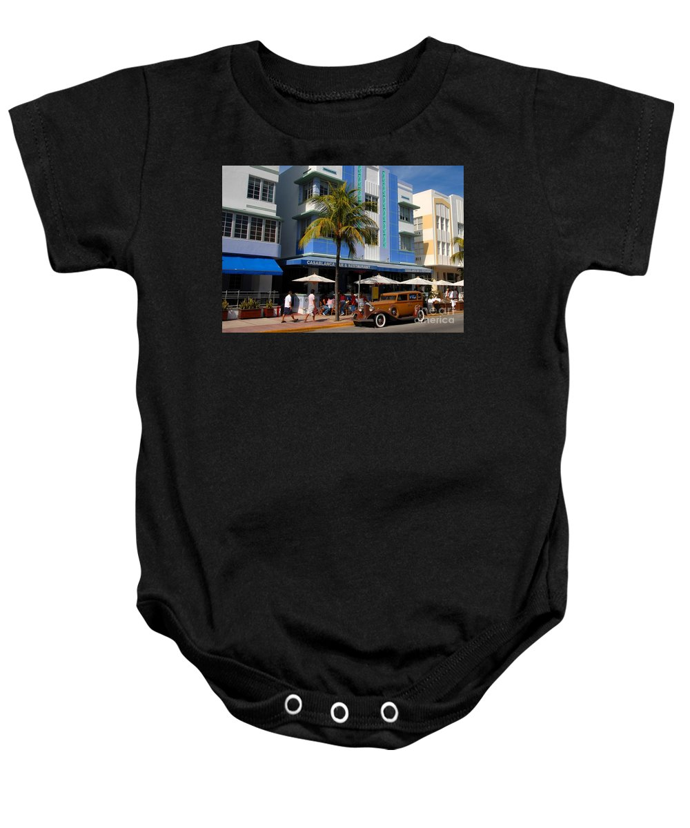 Miami Florida Baby Onesie featuring the photograph Old Miami by David Lee Thompson