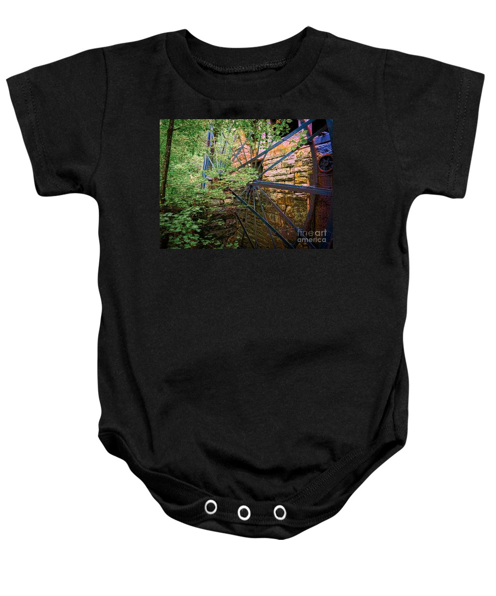 Hdr Baby Onesie featuring the photograph Old Mill by Bob Mintie