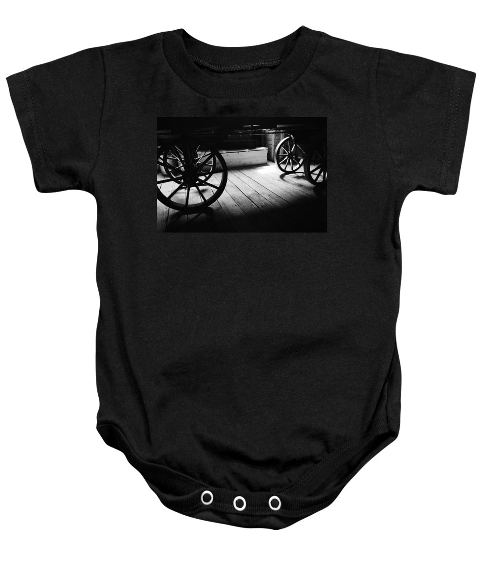 Wheels Baby Onesie featuring the photograph Old Rims by The Artist Project