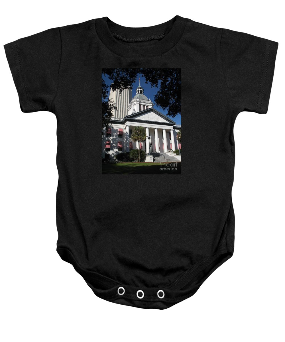 Tallahassee Baby Onesie featuring the photograph Old State Capitol - Florida by Christiane Schulze Art And Photography
