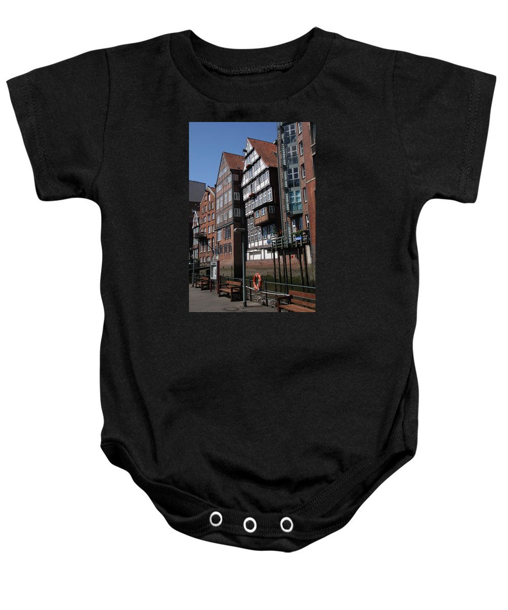 Hamburg Baby Onesie featuring the photograph Old Warehouses Port Of Hamburg by Christiane Schulze Art And Photography