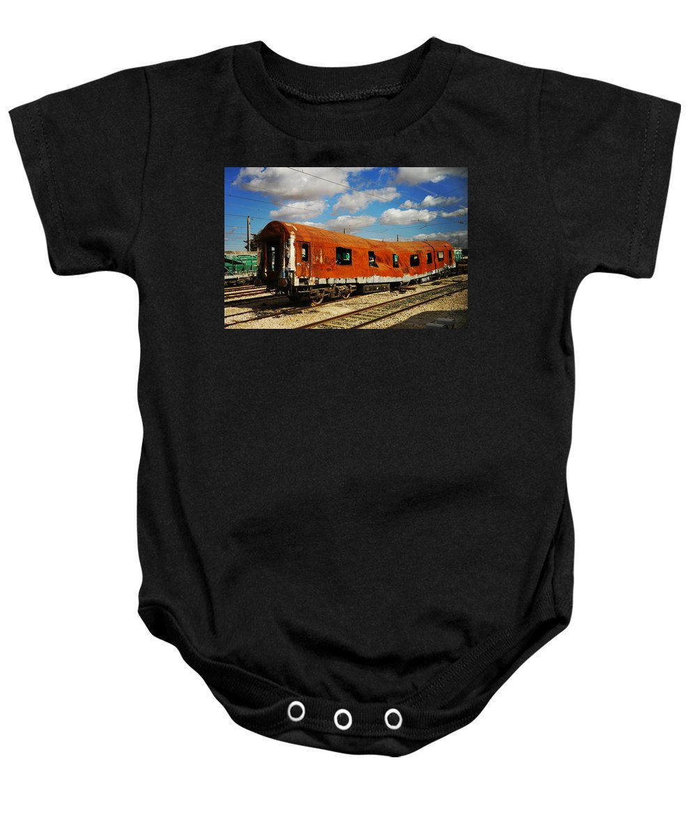 Spain Baby Onesie featuring the photograph Oldie At Sidetrack by Jenny Rainbow