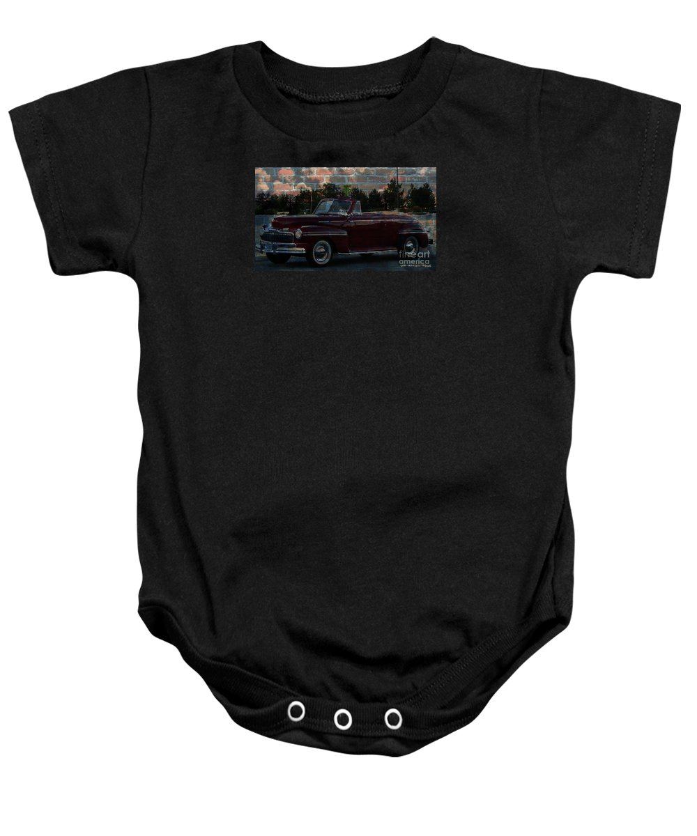 Hot Rods Baby Onesie featuring the photograph Oldie But Goodie Grafitti Series by Bobbee Rickard