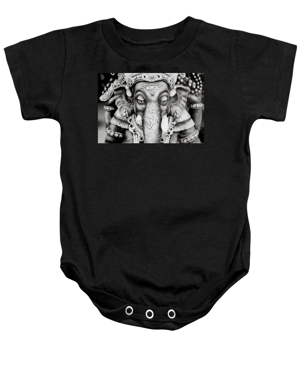 Elephant Baby Onesie featuring the photograph OM by Shaun Higson