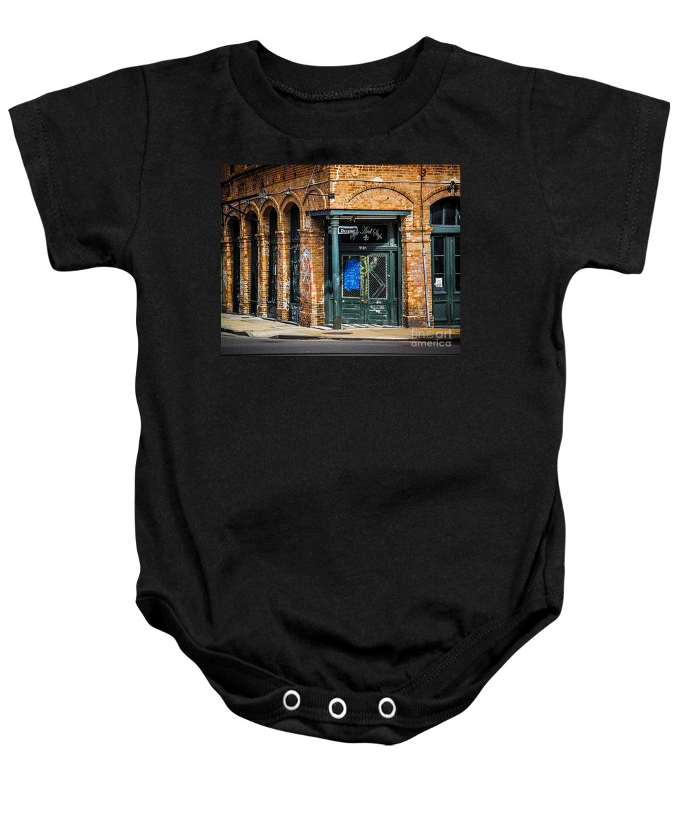 Decatur Baby Onesie featuring the photograph On Decatur by Perry Webster