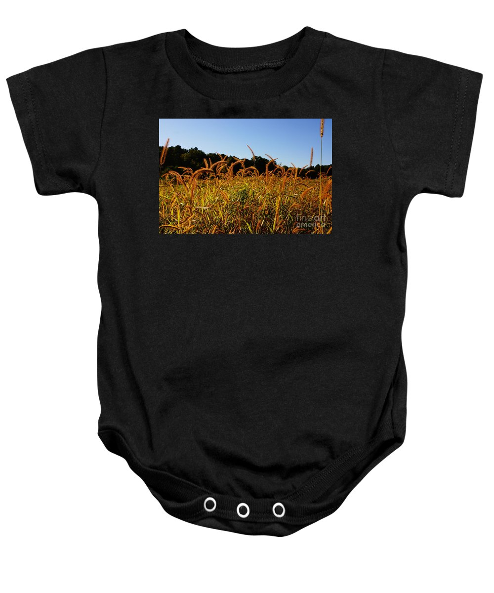 Foliage Baby Onesie featuring the photograph On The Edge by Jeffery L Bowers