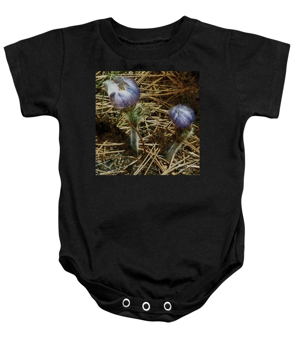 Colorado Baby Onesie featuring the painting On The Forest Floor by RC DeWinter
